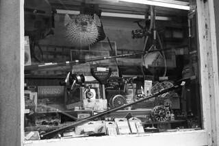 Fishing Tackle Shop Window Silvermax Adox Pyrocat HD semi stand
