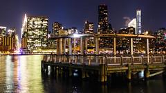 On the Waterfront (salsadan101) Tags: longexposure color building water skyline night pier dock front peir