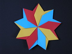 9 pointed modular star (Mlisande*) Tags: star origami modular mlisande a7 nonagon