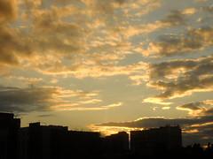 Golden sunset (GrusiaKot) Tags: sunset sky clouds tramonto nuvole ukraine piazza kharkov kharkiv ucraina