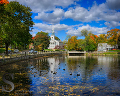 fall color around the Duck Pond (Singing With Light) Tags: autumn reflection fall water leaves photography cool october fallcolors sony ct autumncolors milford 16th duckpond 2015 firstunitedchurch cafeatlantique mirrorless sony16mm28 mondoponds singingwithlight singingwithlightphotography parsonscomplex alpha6000 sonya6000