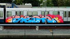 Graffiti (oerendhard1) Tags: urban streetart art train graffiti rotterdam metro painted vandalism rons ret seon