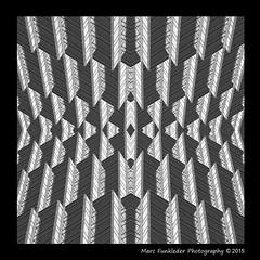 Kaleidoscope_6c (Marc Funkleder Photography) Tags: california city urban blackandwhite usa abstract building geometric motif monochrome 3d nikon unitedstates d70 noiretblanc nikond70 symmetrical ville sanfransisco immeuble californie urbain vasarely abstrait symétrie etatsunis surréaliste géométrique symétrique