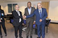 Remise de la médaille de l'UIA à Michel Thierry Atangana