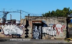 Faes, Optimo, Acne, Spot (absolutetrashmag) Tags: nyc zine ny brooklyn trash magazine graffiti diy photo spot graff xtc kms absolute bk optimo nycgraffiti asr acne ykk faes r2b newyorkcitygraffiti absolutetrash asr2b