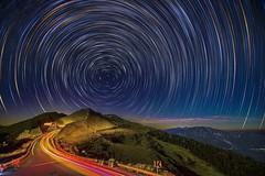 合歡山石門山~彩色星軌~  Color Startrails (Shang-fu Dai) Tags: night nikon taiwan 南投 nightscene formosa 台灣 starry startrails d800 合歡山 nantou hehuan 星軌 石門山 主峰 3237m 彩色星軌