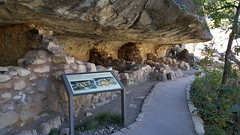 Rooms in the cliff dwellings at Walnut Canyon NM