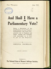 Pamphlet on votes for women, 1918.