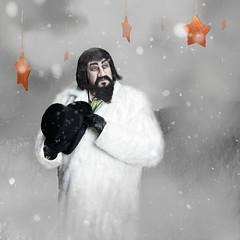 Silent Night (deanmcclelland) Tags: christmas winter fog beard stars hill fantasy tophat whimsical photoshopcs6 canon5d3 lightroom5