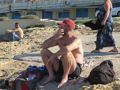 IMG_3401 (griffpops_deptford) Tags: sea beach swimming malta shirtlessmen hairymen smoothmen menatthebeach menwithbeards stpaulsbaymalta menintrunks