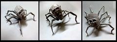 ORIGAMI SKULL SPIDER !! (Neelesh K) Tags: halloween paper skull spider origami gothic creepy tracing