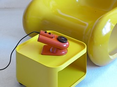 Bosch HT5 hair dryer … (bb...60s...70s) Tags: 1960 1970 60s 70s 60er 70er sixties seventies age space plastic design orange yellow kartell componibili container föhn haartrockner
