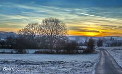 Meroux matin (David K photographie) Tags: davidk meroux morning sky color tree landscape paysage road winter
