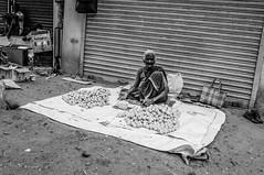 Memories of India (Angelo Petrozza) Tags: india tamilnadu sudindia poor povertà blackandwhite biancoenero pentax angelopetrozza venditrice vendor donna anziana elderly woman chennai madras