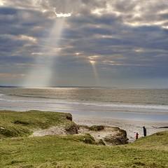 Sunburst at Quilty (irishman67) Tags: countyclare quilty ireland clouds sun winter beach