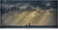 Almere in sunlight (nandOOnline) Tags: water natuur wind almere sunlight zonlicht wolken clouds paard van marken zonnestralen landschap zuiderzee sunrays meer ijsselmeer storm