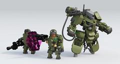 """Capricorn"" Drone (Garry_rocks) Tags: lego mecha hardsuit drone"