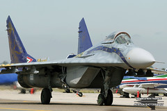Mikoyan-Gurevich MiG-29 '11' Hungarian Air Force @ Kecskemet Airshow 2008 (Fabke - Aviation Photography) Tags: hungarianairforce mig29 fulcrum mikoyan gurevich 2008 hungary kecskemetairshow2008 kecskemet kecskemetairbase fighterplane flying taxiing display aircraft airdisplay freccetricolori canopy landinggear