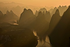 Into The Mystic (Anna Kwa) Tags: xianggonghill 相公山 sunrise light liriver 漓江 karstmountains yangshuo 阳朔县 guilin 桂林 guangxi southwest china annakwa nikon d750 afsnikkor24120mmf4gedvr my sail boat intothemystic always seeing heart soul throughmylens travel world spirit free river joy life sorrow wmh