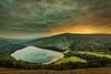 Lough Tay Sunset - Wicklow - Ireland (Enric Rodriguez) Tags: lake lough tay guinness logh ireland wicklow sunset mountain