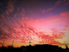 bloody sky (andreea_loredana) Tags: landscape red intense night yellow google galaxy building relaxing dream beautiful finchley london andreealoredanamihailiuc flickr
