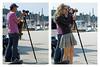 """Cribbing his Shot"" - Rovinj, Croatia (TravelsWithDan) Tags: photographers candid streetphotography rovinj croatia youngwoman shortskirt cribbing canon5d outdoor city urban townsquare oldtown compilation framed"