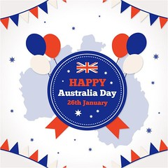 free vector Happy Australia Day Celebration With Balloons Greeting (cgvector) Tags: 26 australia badge banner british calligraphic canberra celebration constitution country day democracy democratic election empire festival flag flat freedom government grunge happy holiday honor independence island january justice liberation nation national new ocean oceania old pacific patriot pattern peace poster religion sign state strength symbol typographic vector victory vintage white