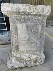 Roman tombstone, Volubilis, Morocco (Paul McClure DC) Tags: morocco almaghrib fèsmeknèsregion volubilis jan2017 roman sculpture