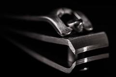 In the dark (Explore) (Cajofavi) Tags: macromondays madeofmetal nailclipper nailcutter cutter clipper dark metal macro