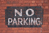 Day 52 (Tres Seis Cinco) Tags: 365 365photoproject aphotoaday day52 sign noparking brickwall brick
