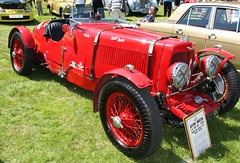 Vintage car - 1934 Aston Martin LM16 (rossendale2016) Tags: top open seater two spoked spokes vented aerodynamic bonnet strapped straps veteran red car vintage 1934 aston martin lm16