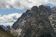 Mountains beyond Mountains (lightsaber*) Tags: dolomiti sky dolomit dolomites italy cloudscape clouds cloud blue deep mountains landscape explore rocks red trekking sudtirol trentino alto adige rifugio locatelli crode hiking italia horizon