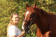 Franziska & Ray (axel0901) Tags: horse sport canon pferd reiten franziska hengst eos700d