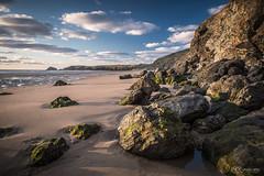 Rocks (KRLandscapes) Tags: sunset seascape beach landscape coast cornwall fuji newquay cliffs fujifilm 1855 perranporth xt1