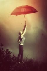 Fly Away (Alysa Tarrant) Tags: umbrella fly surrealism dream surreal levitation