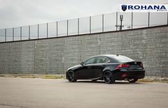 Lexus IS250 - RC8 Matte Black (6) (Rohana Wheels) Tags: wheels toyota rims concave lexus trd luxurycar rohana is250 lexusis250 rc8 luxurywheels fsport rcseries rohanawheels