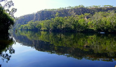 Reflections, Katherine Gorge. (The Pocket Rocket) Tags: reflections smoke australia explore kayaking northernterritory katherinegorge 387 nitmiluknationalpark