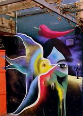 Frutos, pájaros libres para estar despierto(s) (Felipe Smides) Tags: mural pintura muralismo smides felipesmides lakazuela