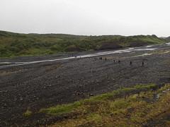 Flussquerung auf dem Weg nach Thorsmörk Langidalur, Laugavegur - Trekking auf Island