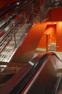 Escalator, Stairs and A Door Way