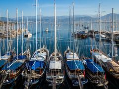Partons la mer est belle... (josboyer) Tags: marina turkey turquie fethieye