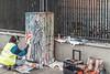 ARTIST AT WORK IN BOLTON STREET [DUBLIN CANVAS PAINT A BOX PROGRAMME]-109412