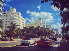 Collins Avenue (edgarzunigajr) Tags: trees sky architecture clouds traffic florida miami hotels miamibeach southbeach taxicabs sobe 305 magiccity the305