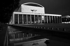 palazzo dei congressi (GIORDANO STRAMARE) Tags: blackandwhite architecture pentax tag bn colum vintagelens k5iis pentaxk5iisvintagelenseur