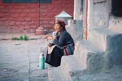 Woman (Celiamar) Tags: china tibet monastery sakya sakyamonastery