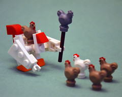 Chickens Acting Suspiciously 10 (IamKritch) Tags: chicken advent calendar lego alternative mech