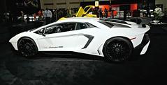 Lamborghini Aventador (525hp) Tags: white car zeiss carpet miami sony autoshow conventioncenter miamibeach lamborghini lambo 2015 a6000 aventador sel1670z