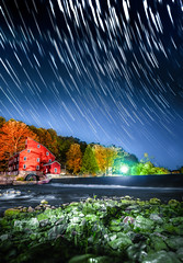 Holocene (Dylan Colon Photography) Tags: county new travel red panorama mill rural river landscape town waterfall nikon long exposure glow angle bokeh clinton wide nj jersey waterscape startrail d600 hunterdon