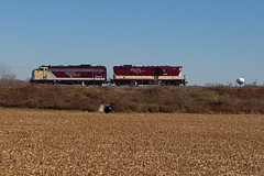 OSR 378 at CAMI Ingersoll (railroadcndr) Tags: railroad light ontario canada fall train power tracks engine railway locomotive canadianpacific cp cami cpr freight osr gmd ingersoll gp7 osr378 osrstthomassub osrwoodstockjob stthomassub cpstthomassub