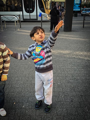 Recognises the helicopters from Syria. Schaerbeek, October 2015. (joelschalit) Tags: brussels children war belgium refugees arab racism immigration discrimination multiculturalism